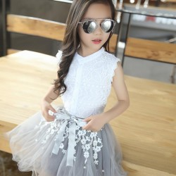 CS1044 - Korean Style Lace Girl Suit
